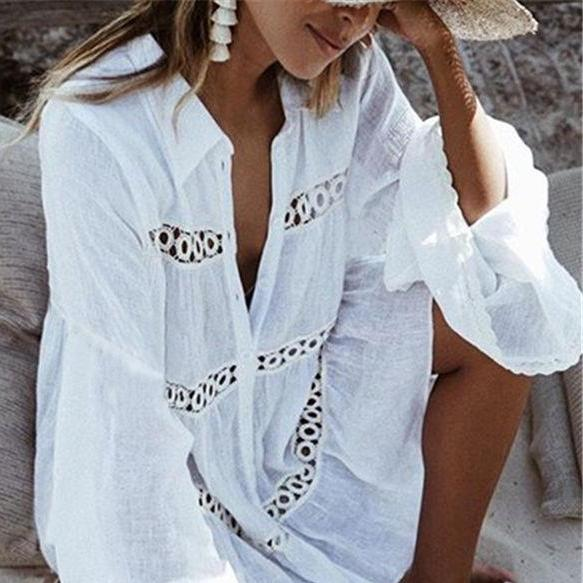 Classic Lace Crochet Cover-Up - Maoli Life