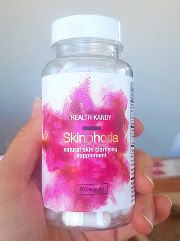 Best acne supplements Skinphoria natural skin clarifying supplements for pimples, acne scars