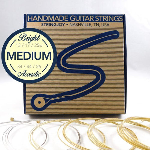 Stringjoy Bright Brass Meduim Strings
