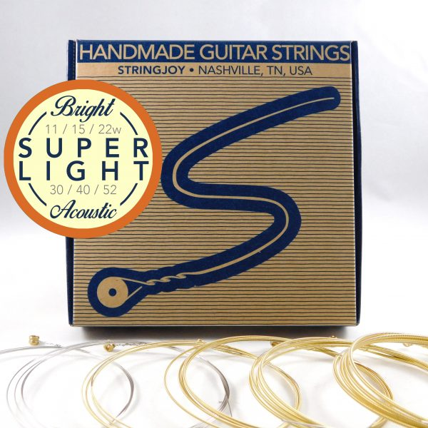 Stringjoy Bright Brass Super Light Strings