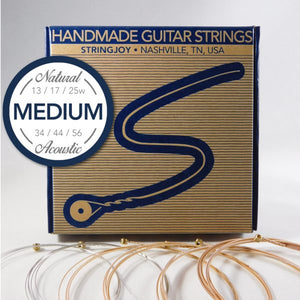 Stringjoy Medium Natural Bronze Strings