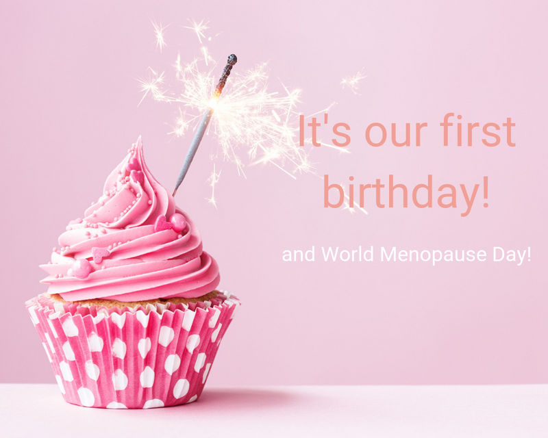 Celebrating World Menopause Day on our First Birthday