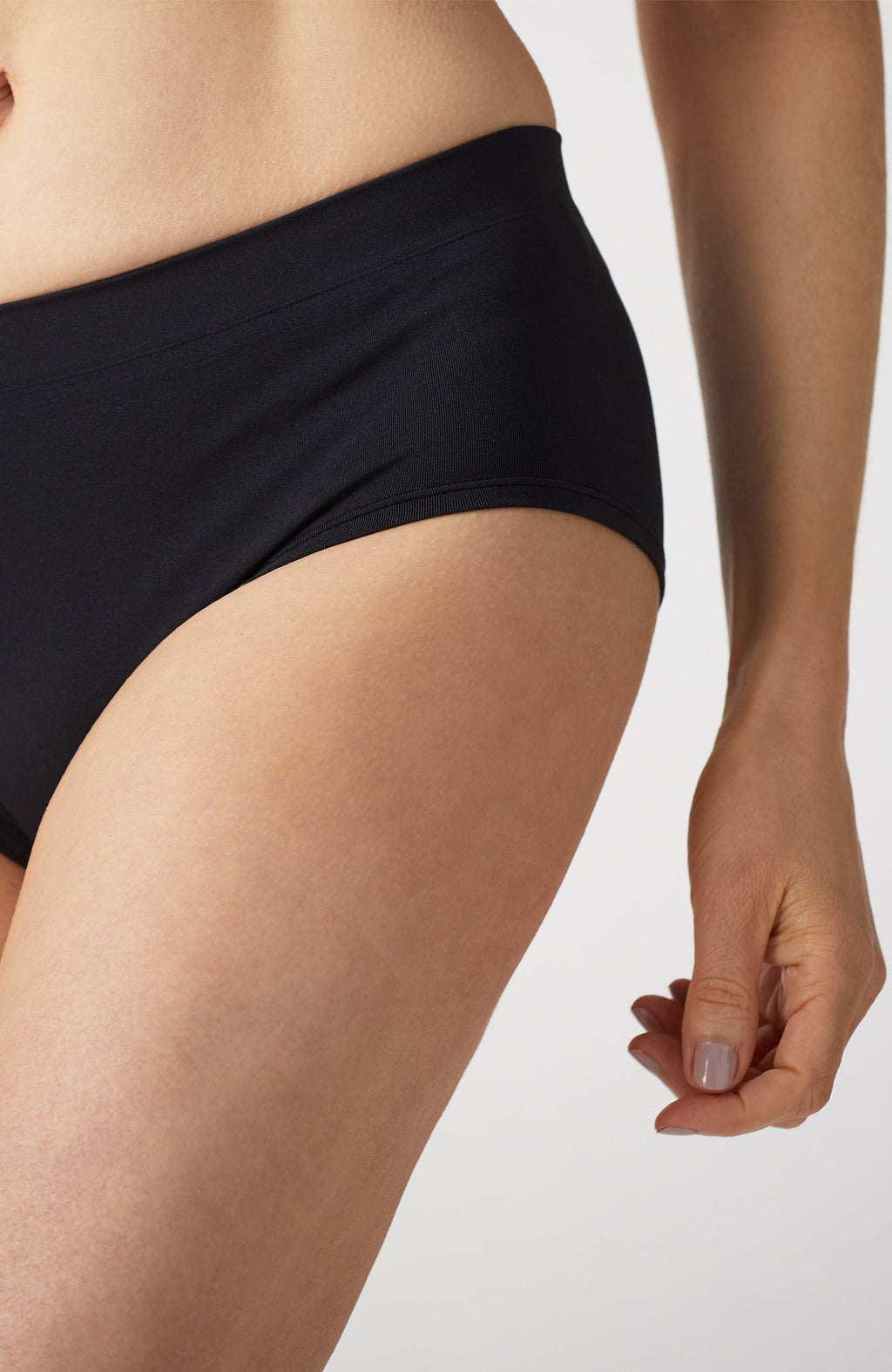Black Anti-Flush Low Rise Brief