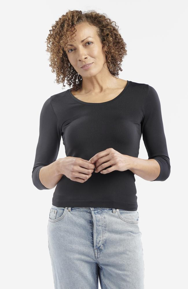 Black Anti-Flush Long-Sleeved T-Shirt