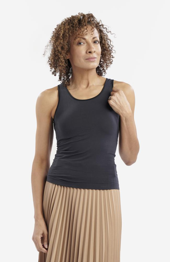 Black Anti-Flush Vest Top