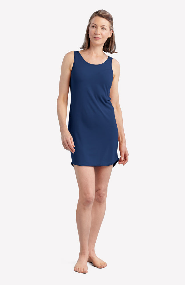 Navy Blue Anti-Flush Night Dress