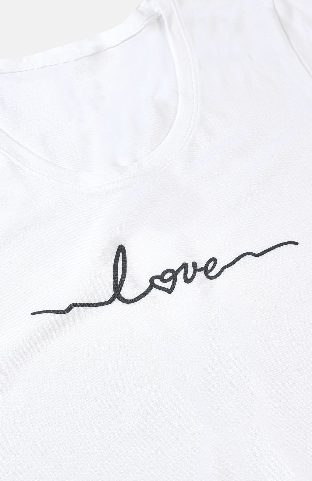 White Limited Edition Love Print T-Shirt