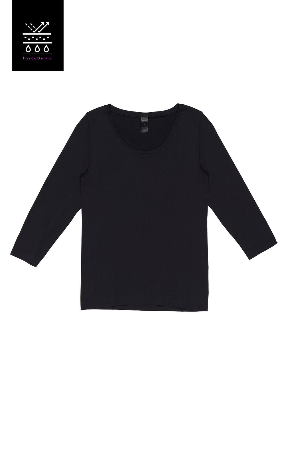Black HydraDerma Long-Sleeve T-Shirt