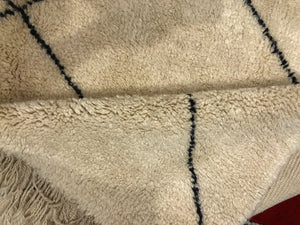 Gorgeous tribal Handmade Beni Ourain authentic Moroccan rug Teppich Tapis 100% Wool Berber 210cm X 310cm