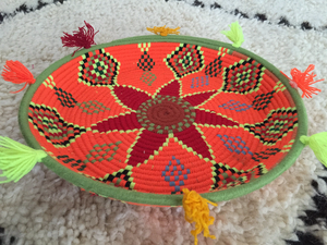 Moroccan Berber Tribal Handmade Wool Bread Centrepiece Plate, No. 20