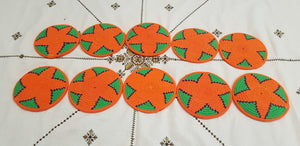 Moroccan Handmade Wool Placemat Set of 10#12