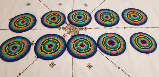 Moroccan Handmade Wool Placemat Set of 10#15