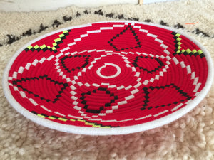 Moroccan Berber Tribal Handmade Wool Bread Centrepiece Plate, No. 12 - AUALIRUG
