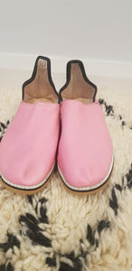 Moroccan Traditional Babouche, Handmade Leather Slippers #9 - AUALIRUG