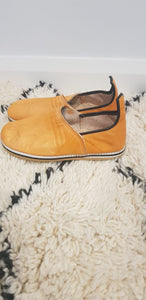 Moroccan Traditional Babouche, Handmade Leather Slippers #10 - AUALIRUG