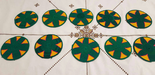 Moroccan Handmade Wool Placemat Set of 10 #  11