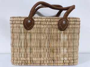 Handmade Moroccan Natural Straw Basket with Leather Handle ,African Straw Bag,Shopping Bag,Handmade Bag WHOLESALE AVAILABLE No.41