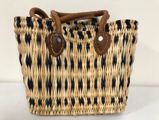 Handmade Moroccan Natural Basket with Leather Handle ,African Straw Bag,Shopping Bag,Handmade Bag WHOLESALE AVAILABLE No.59
