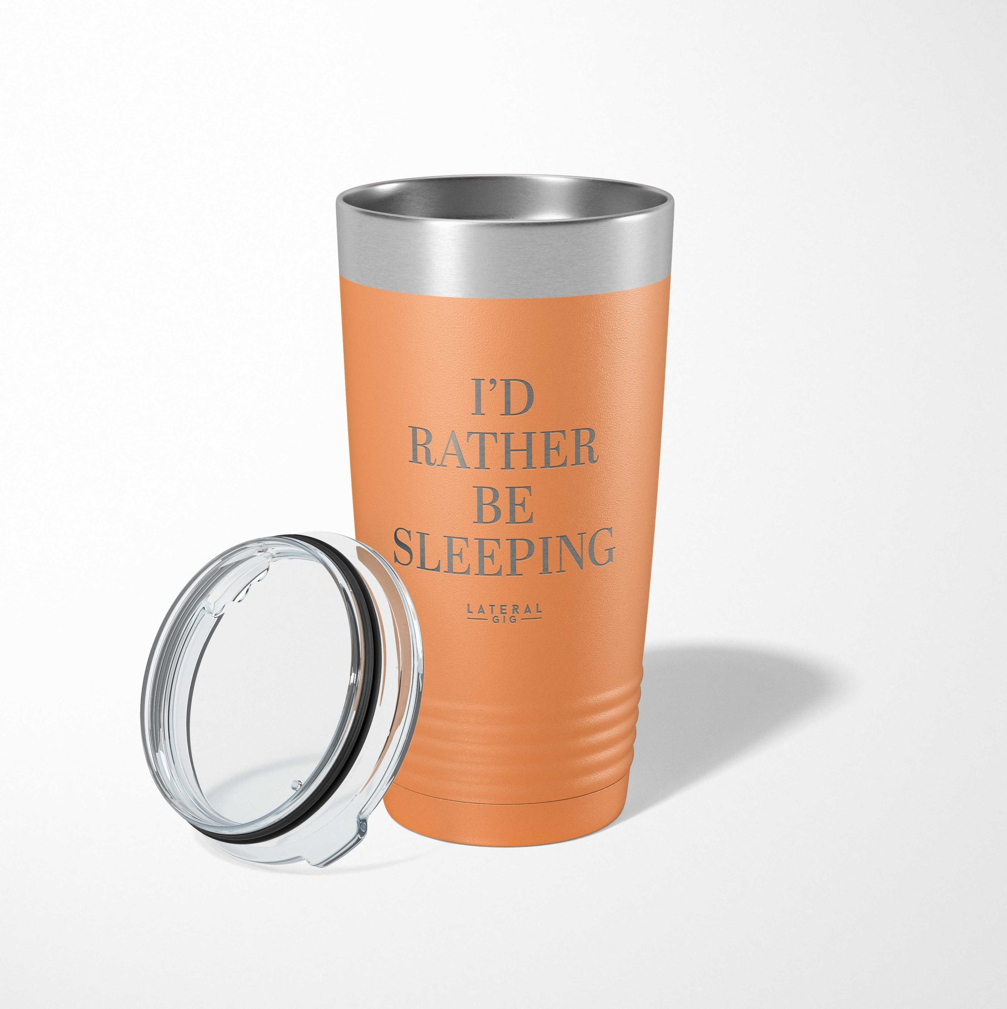 I'd Rather Be Sleeping Laser Etched Tumbler