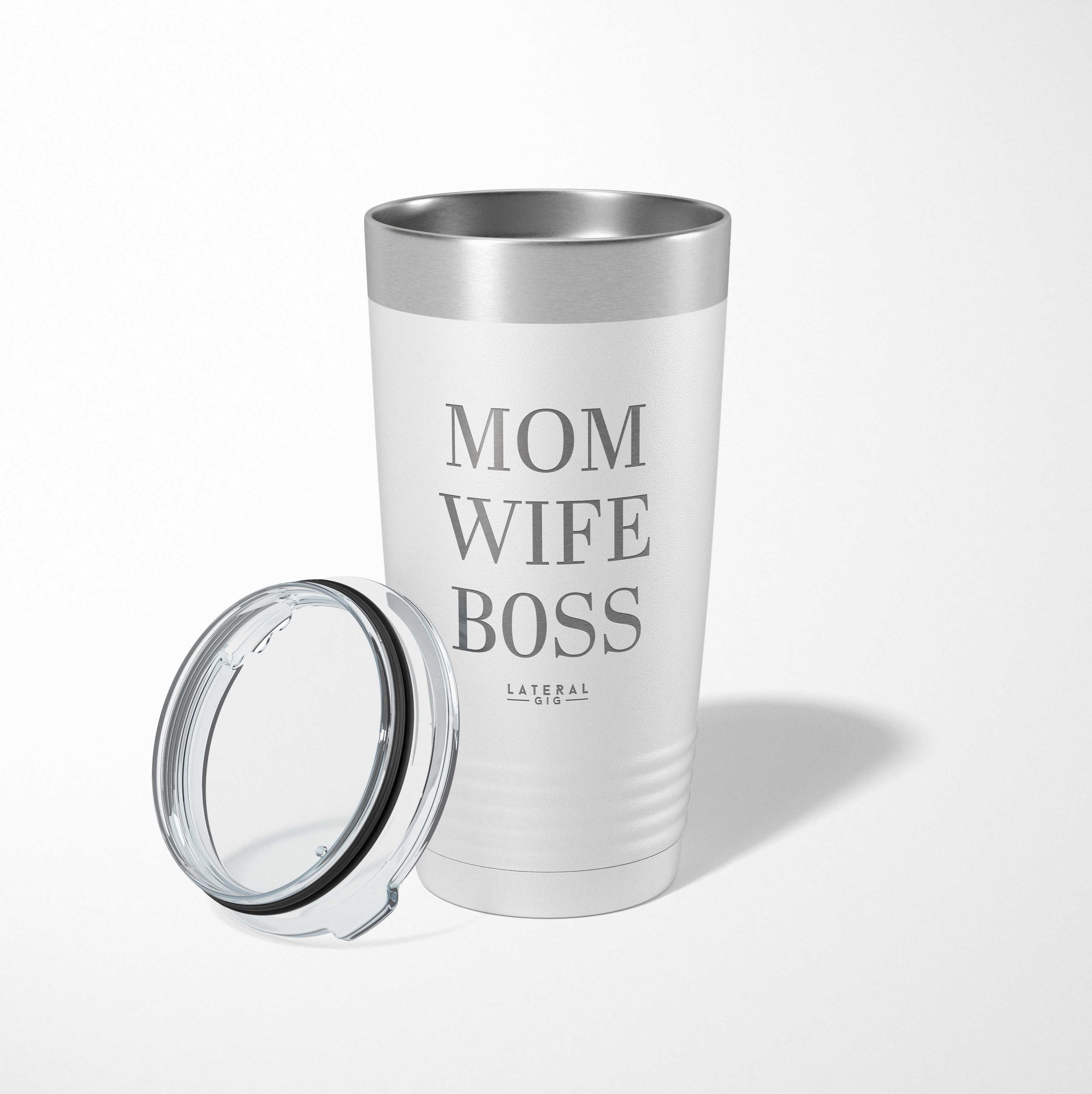 Wife Mom Boss Laser Etched Tumbler