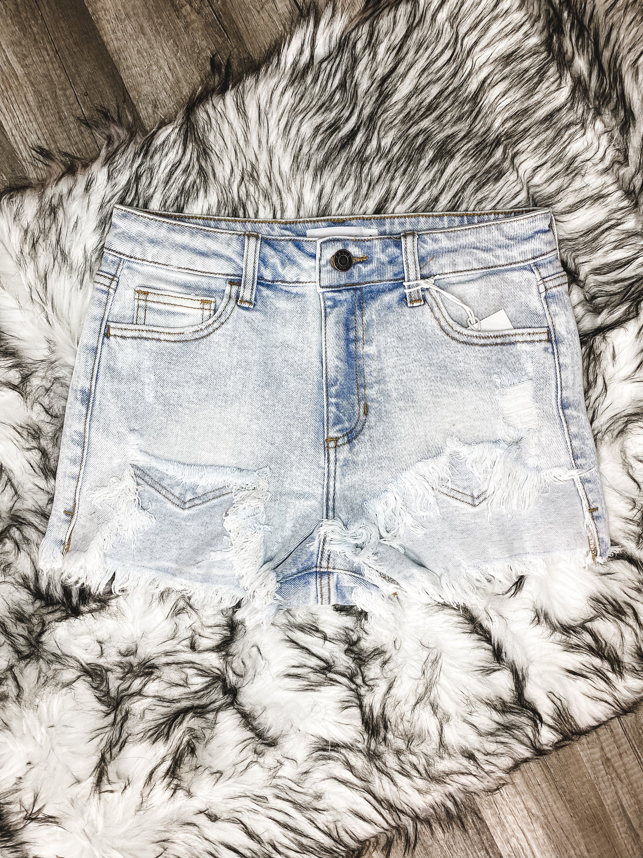 Hollie High-Rise Denim Shorts