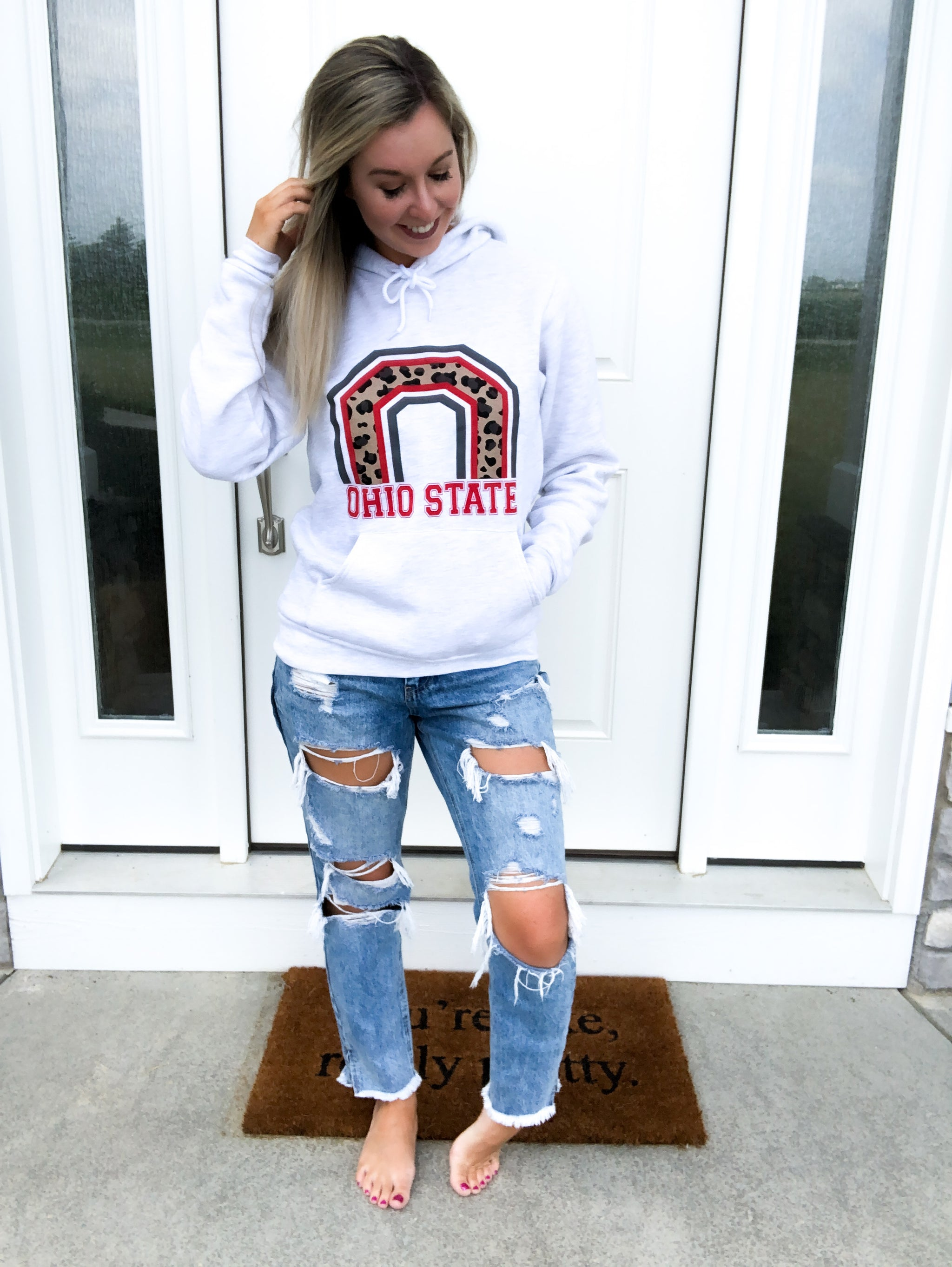 Ohio State Leopard Hoodie