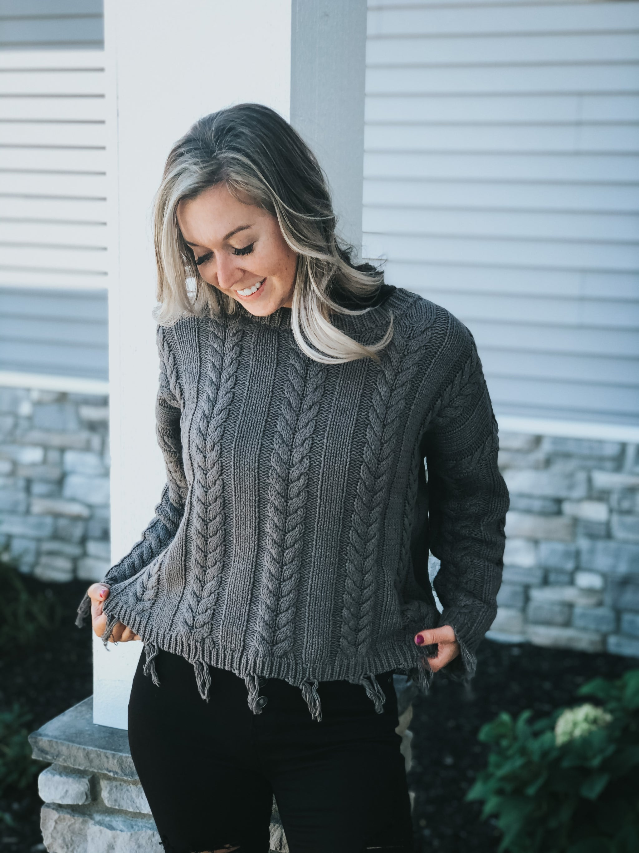 Braided Cozy Sweater