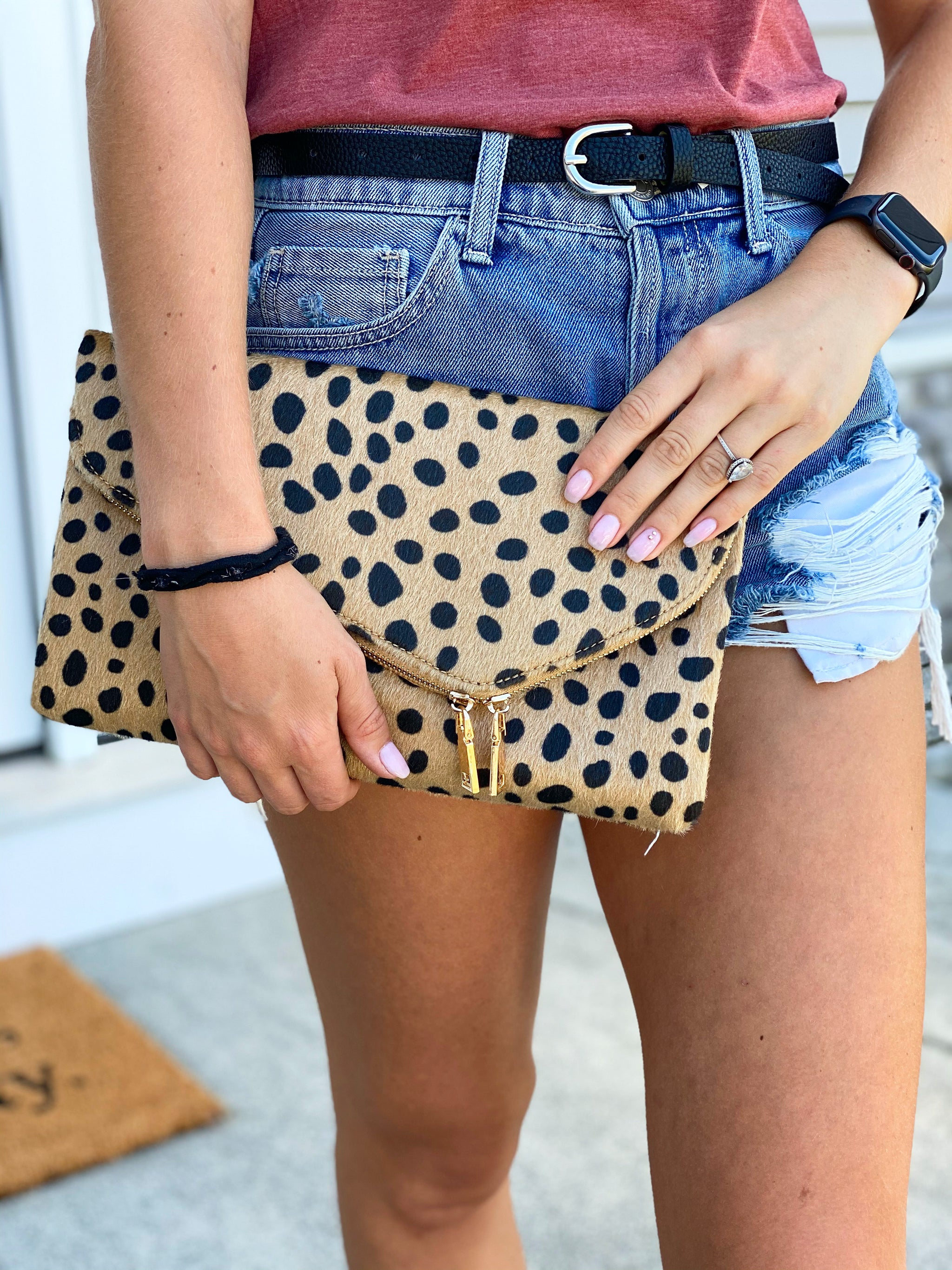 Cheetah Crossbody Envelope Clutch
