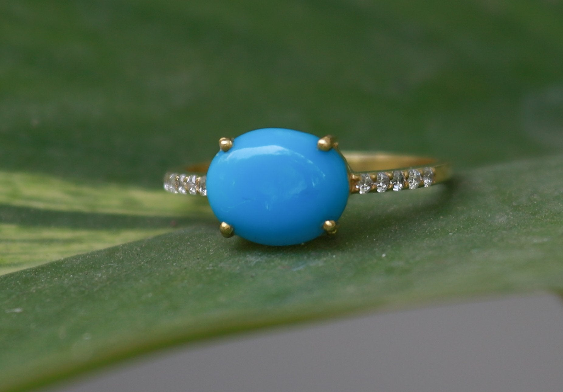 Lovely Sleeping Beauty Turquoise Engagement Ring,  AR-2099