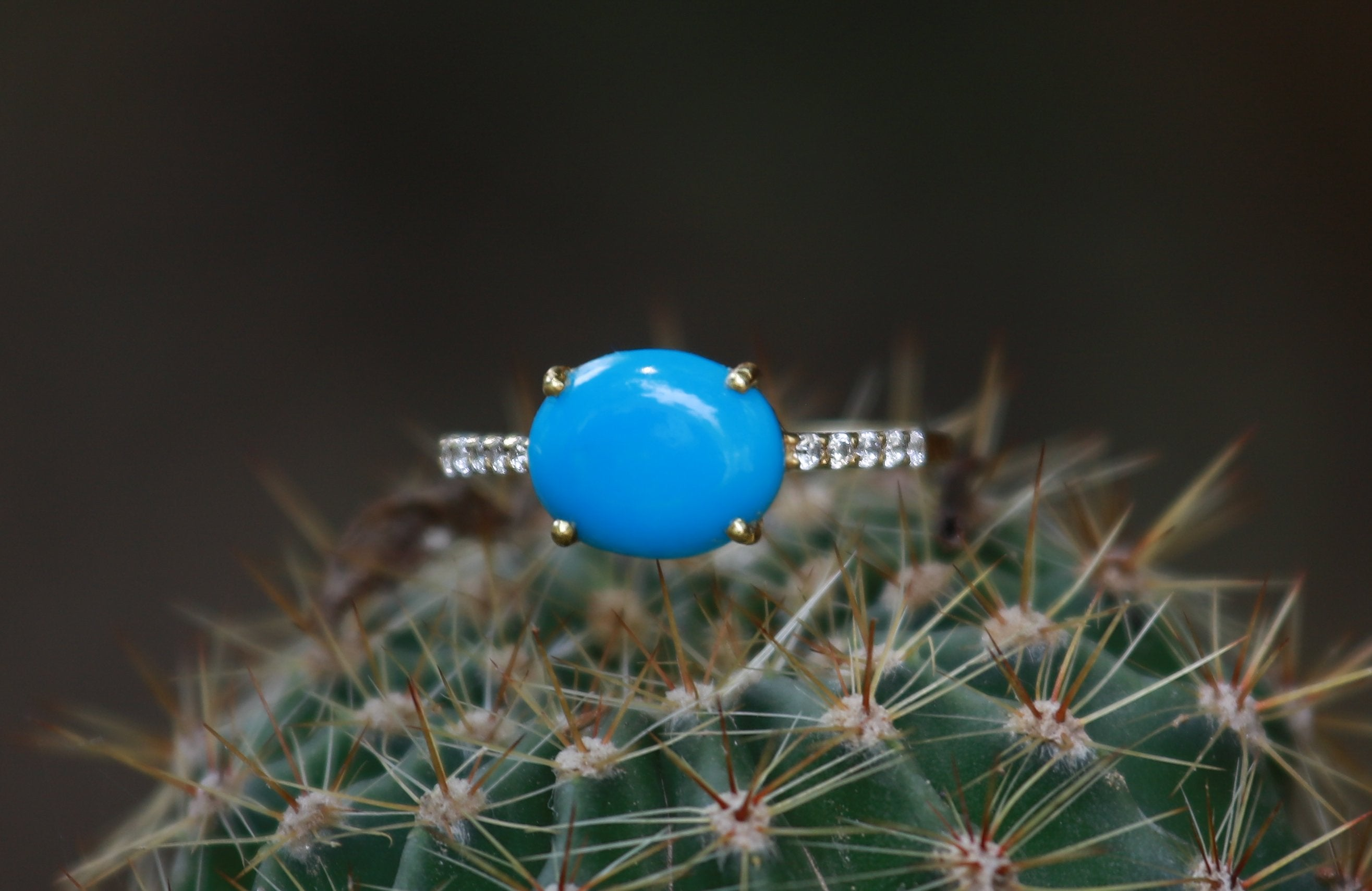 Lovely Sleeping Beauty Turquoise Engagement Ring,  AR-2099 - Its Ambra