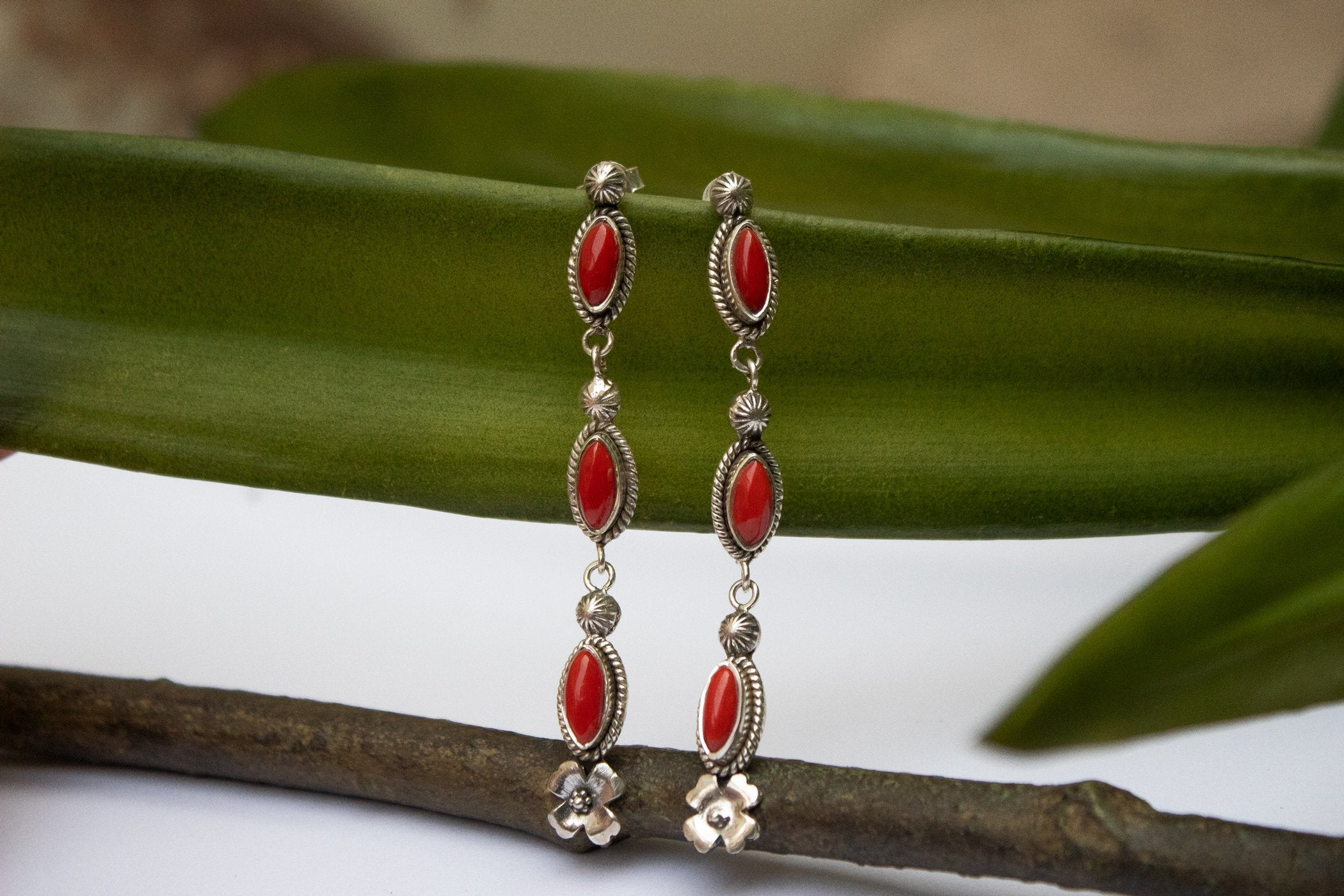 Coral Earrings AE-2098 - Its Ambra
