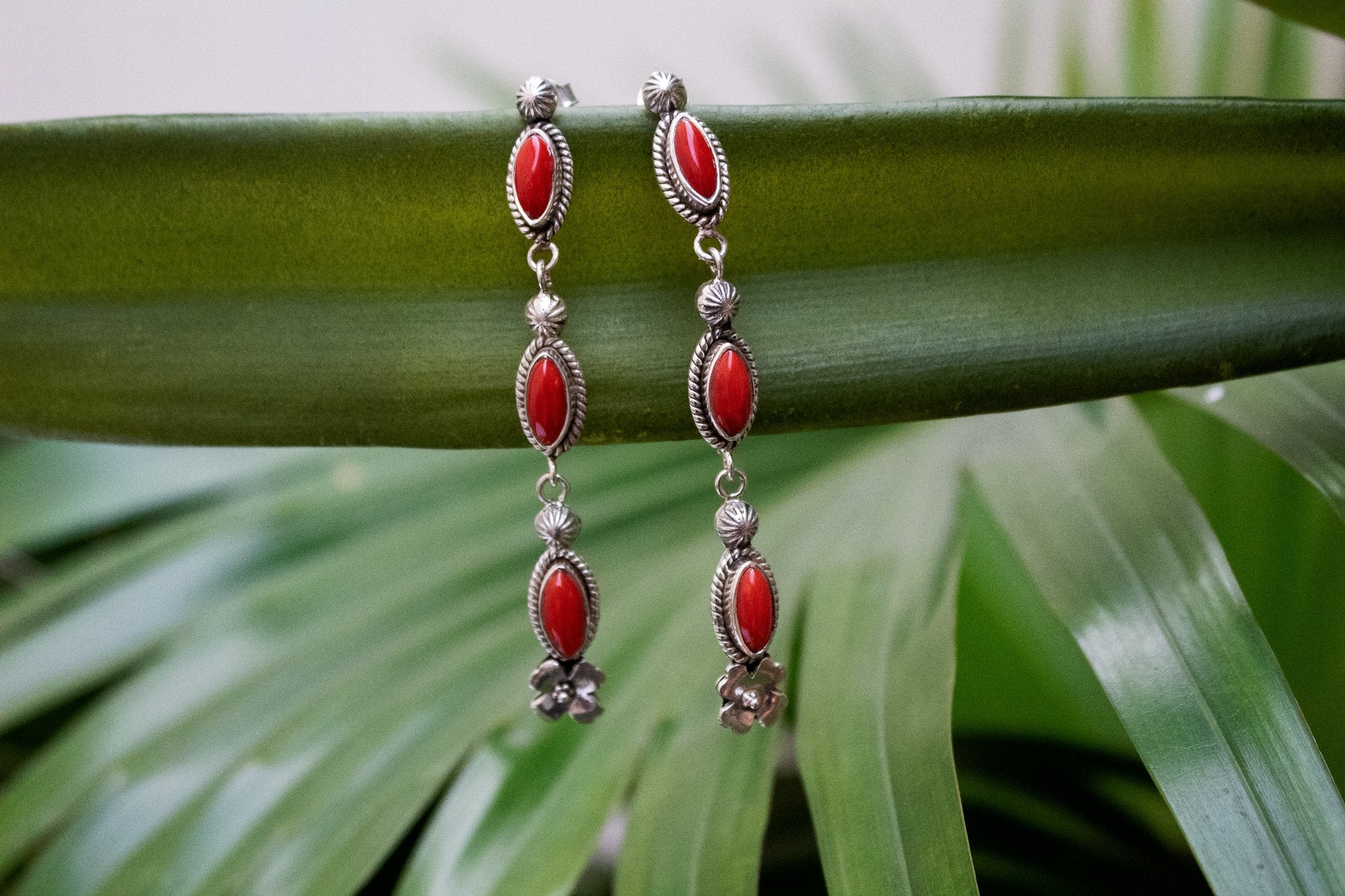 Coral Earrings AE-2098