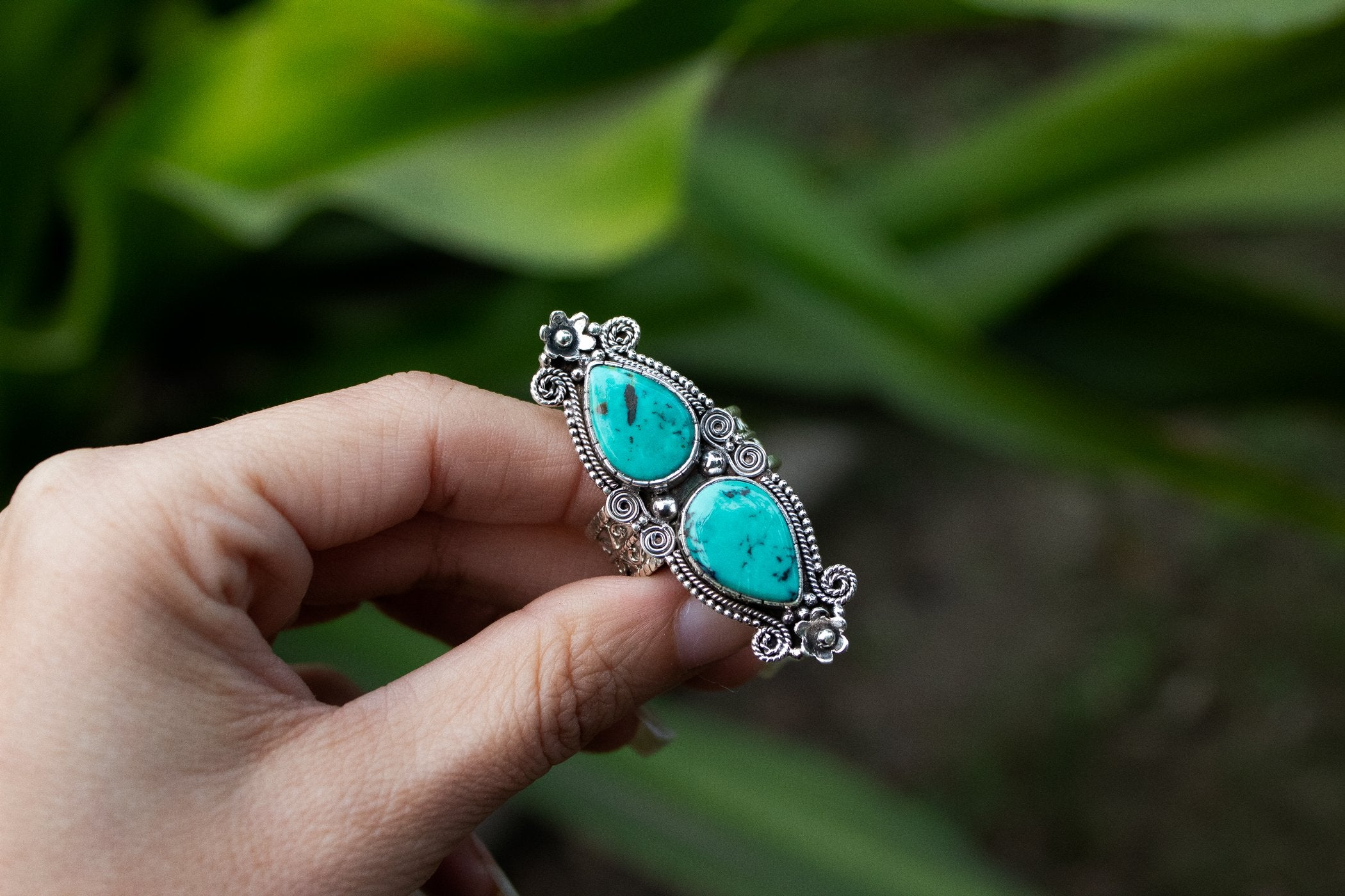 Handmade 925 Sterling Silver Turquoise Ring AR-3013 - Its Ambra