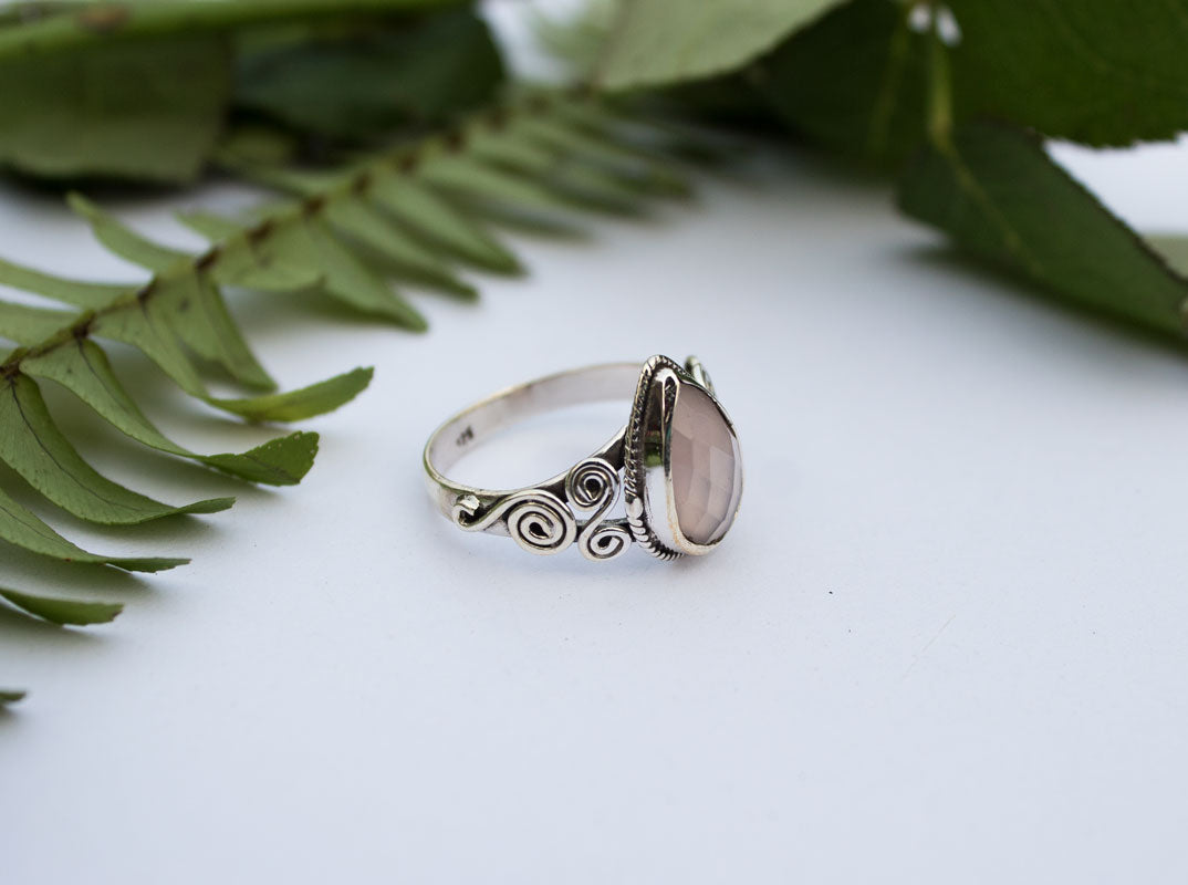gemstone silver rings mens yoyoon artichoke sterling vintage ring