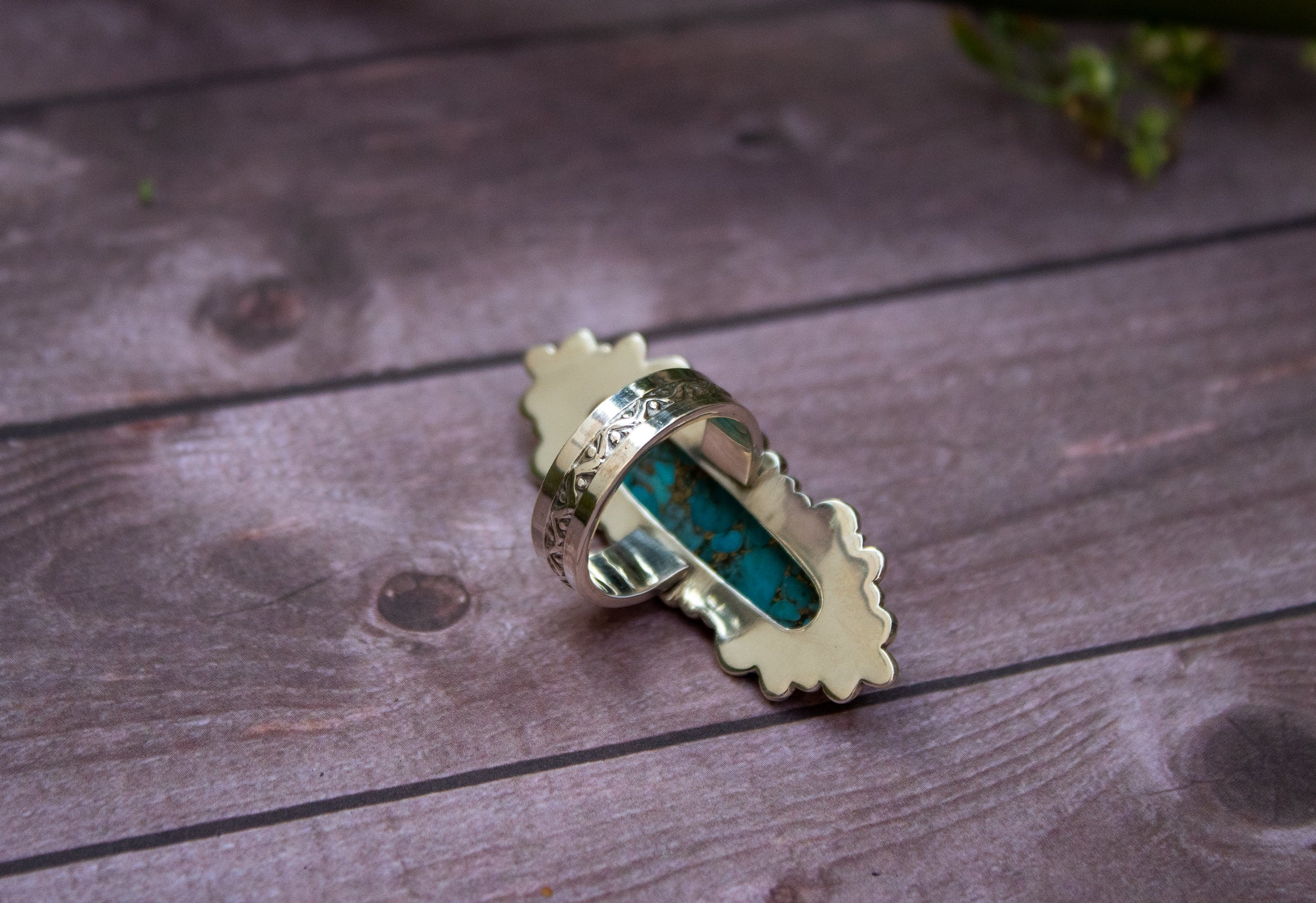 Blue Copper Turquoise Sterling Silver Ring,  AR-3023