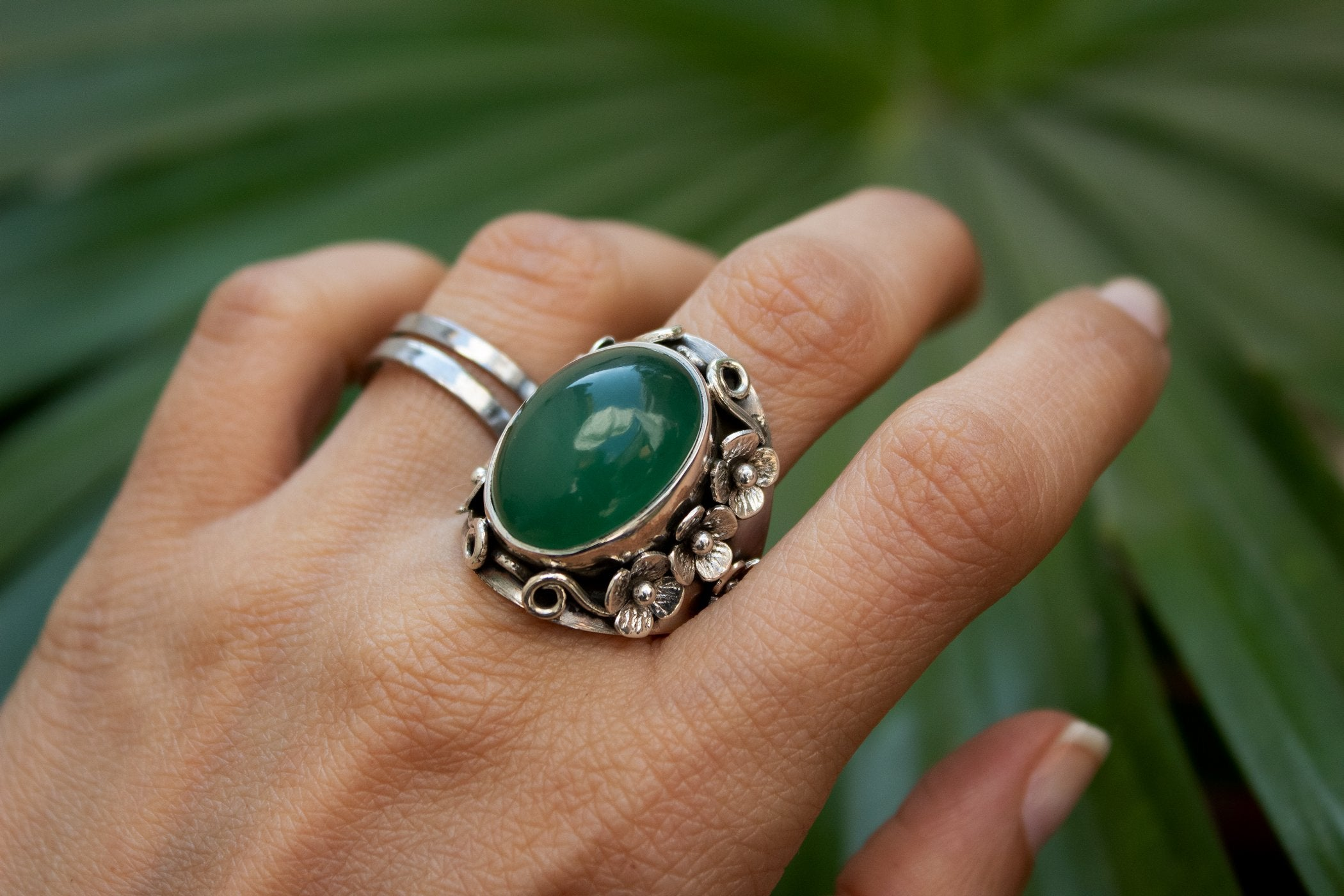 Jade Ring Floral Design, AR-2078