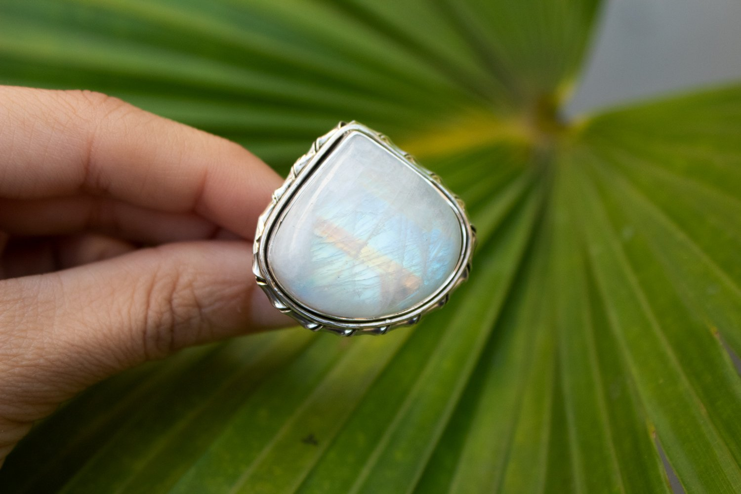 Moonstone Ring Sterling Silver,  Anniversary Ring