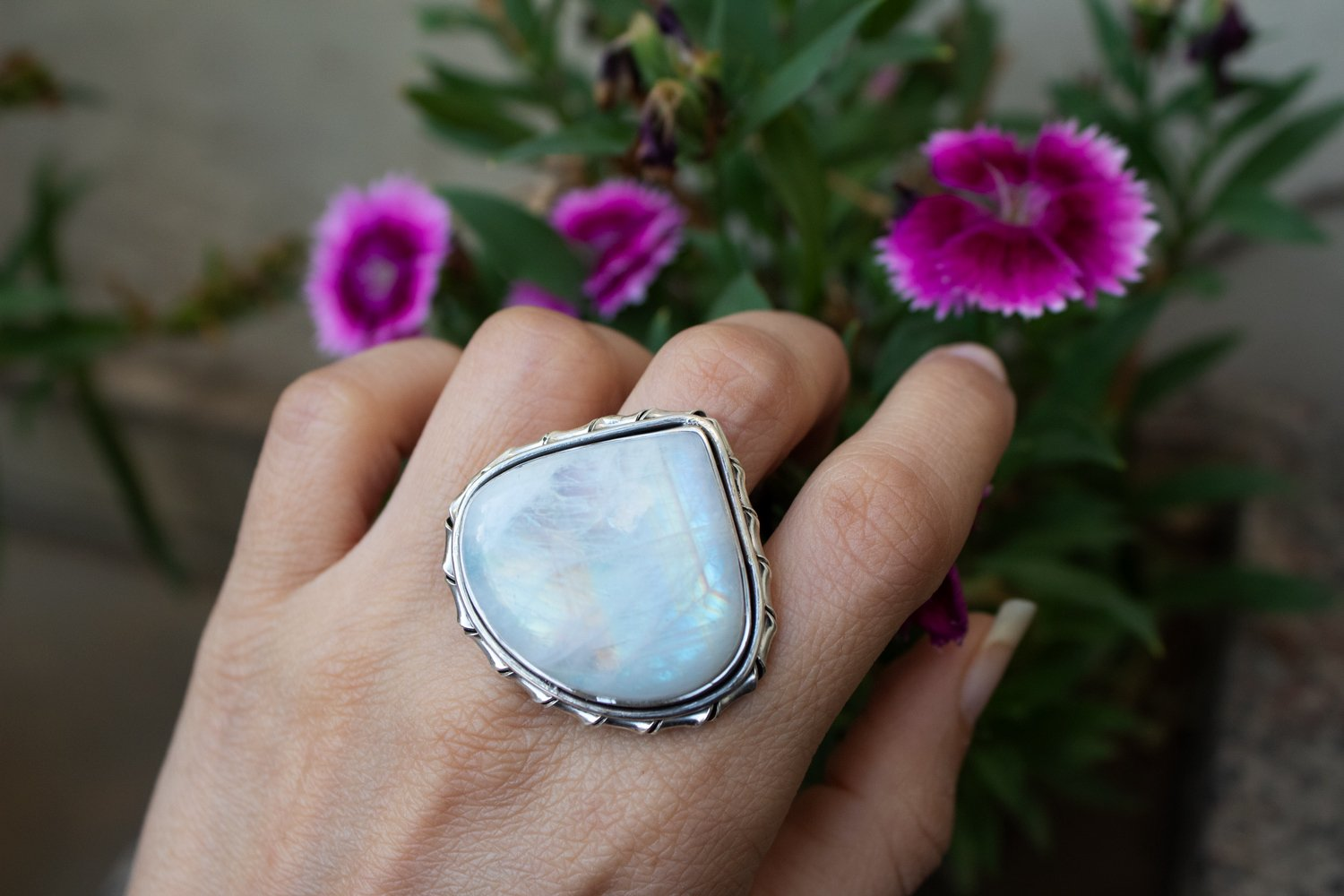 Moonstone Ring Sterling Silver,  Anniversary Ring AR-1105 - Its Ambra