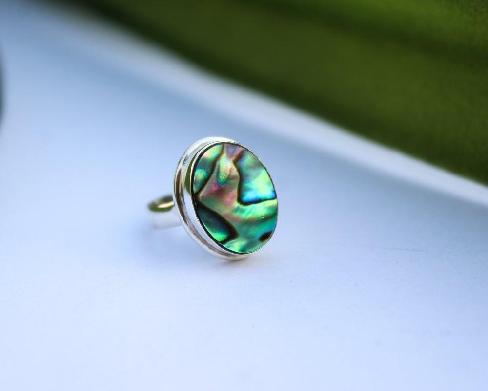 Abalone Shell Ring Sterling Silver AR-1001
