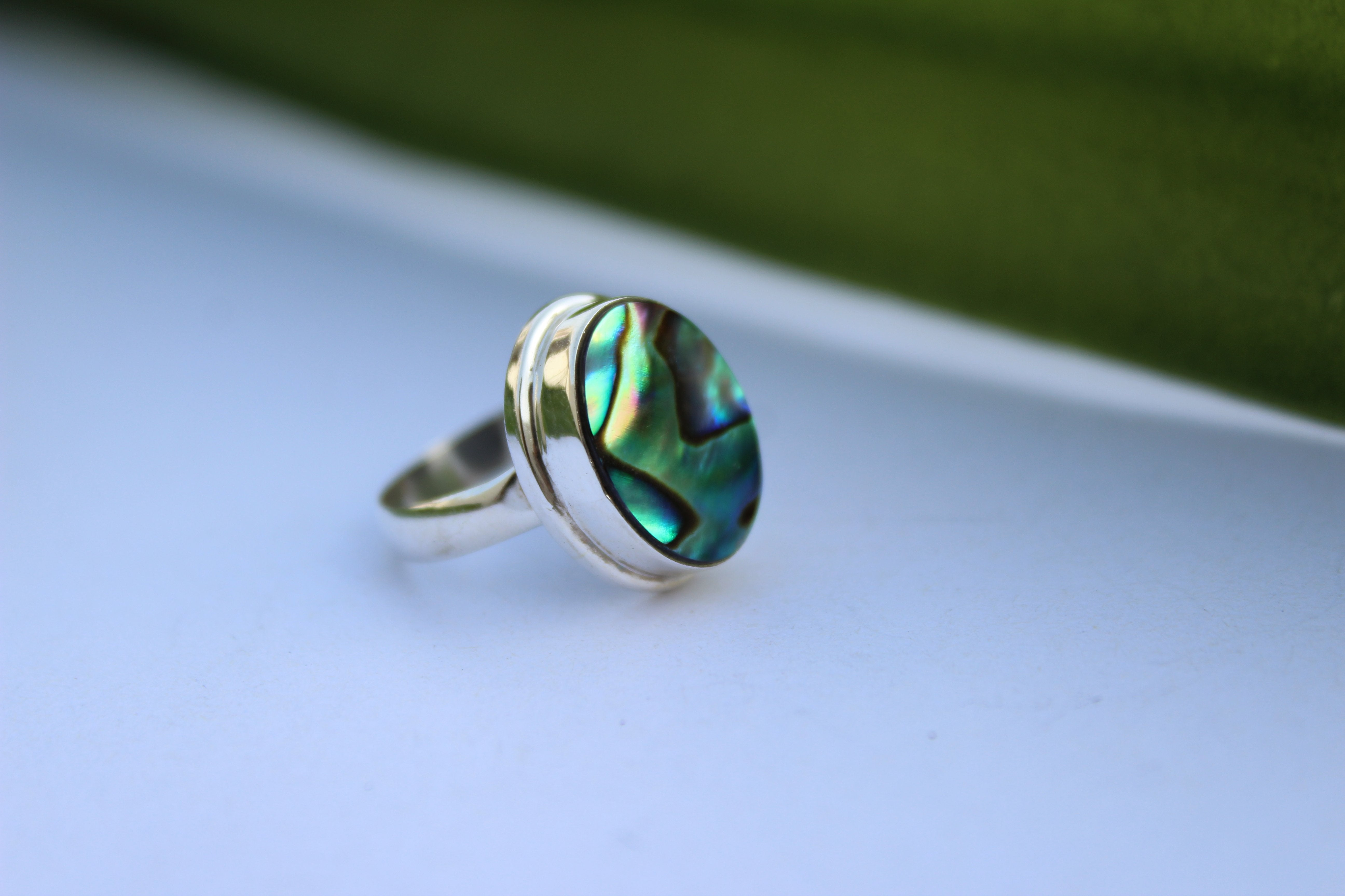 Abalone Shell Ring Sterling Silver AR-1001 - Its Ambra