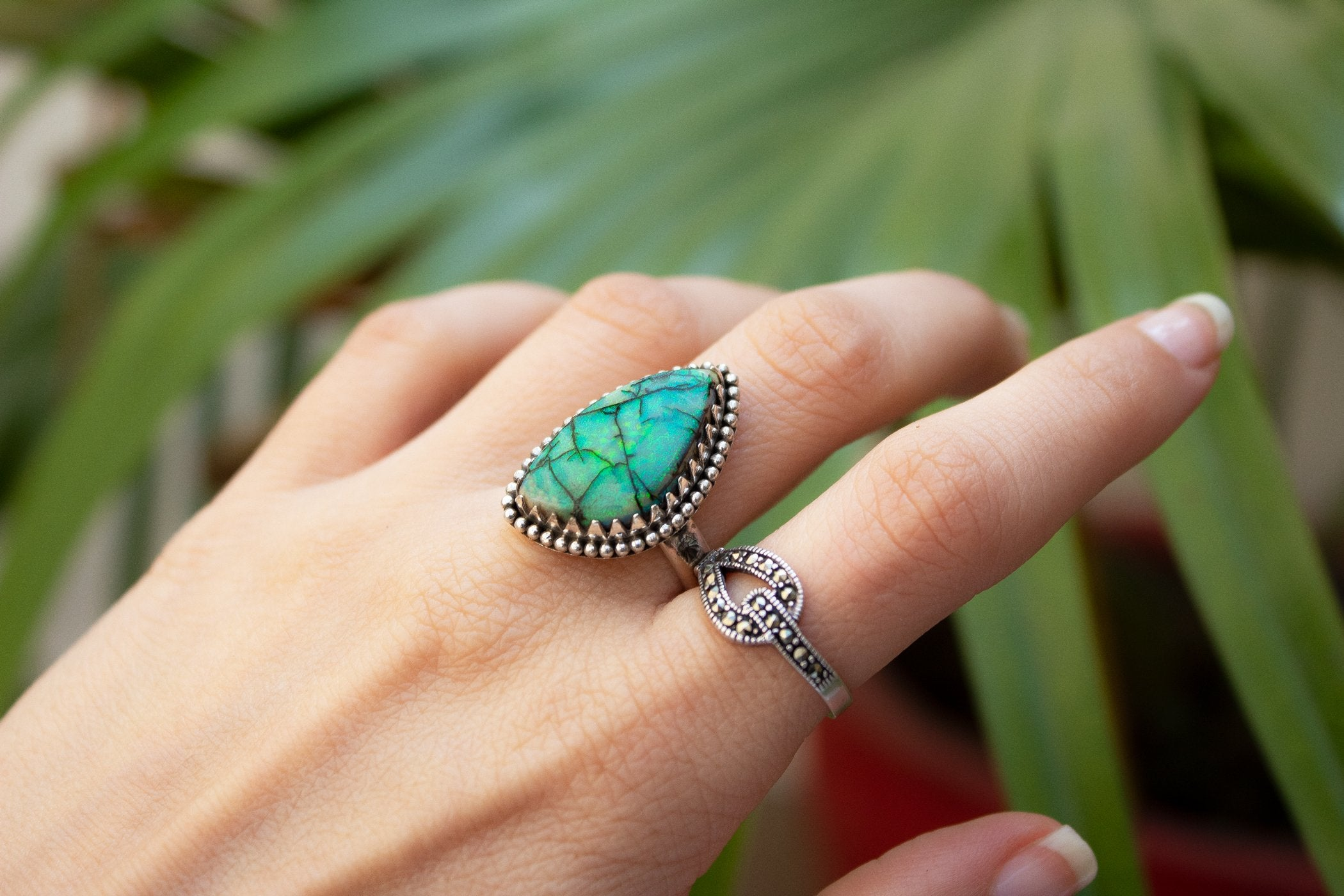 Monarch Opal Ring Size 7,  AR-2073 - Its Ambra