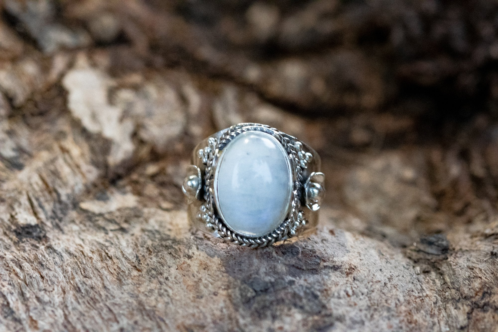Moonstone Ring, June Birthstone Ring AR-1111