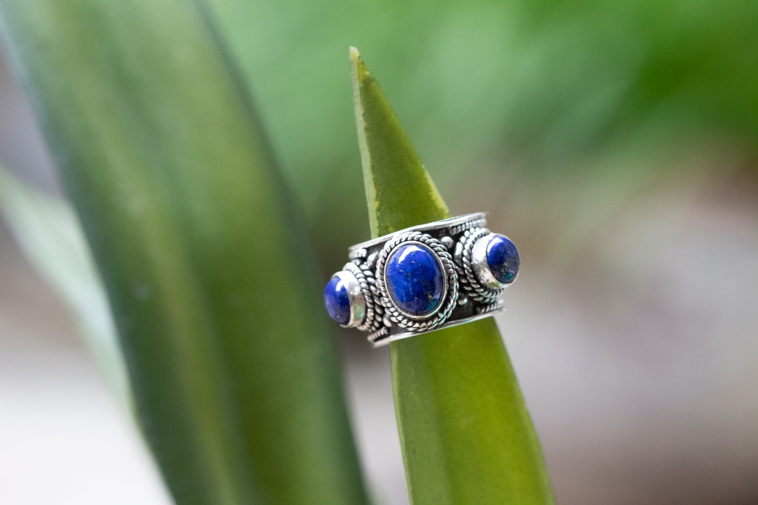 Lapis Lazuli Ring, December Birthstone Ring AR-1075 - Its Ambra