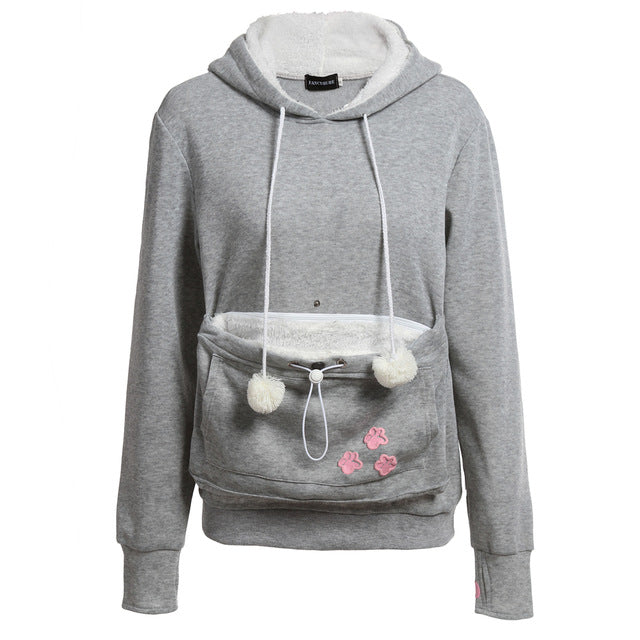 Cat Lovers Hoodie With Cuddle Pouch
