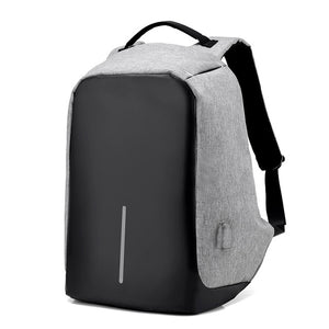 GRAY ANTI-THEFT BACKPACK