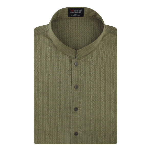 Jacquard Cotton Sea Green Kurta
