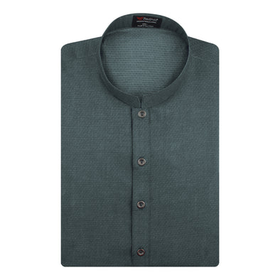 Jacquard Cotton Super Grey Kurta