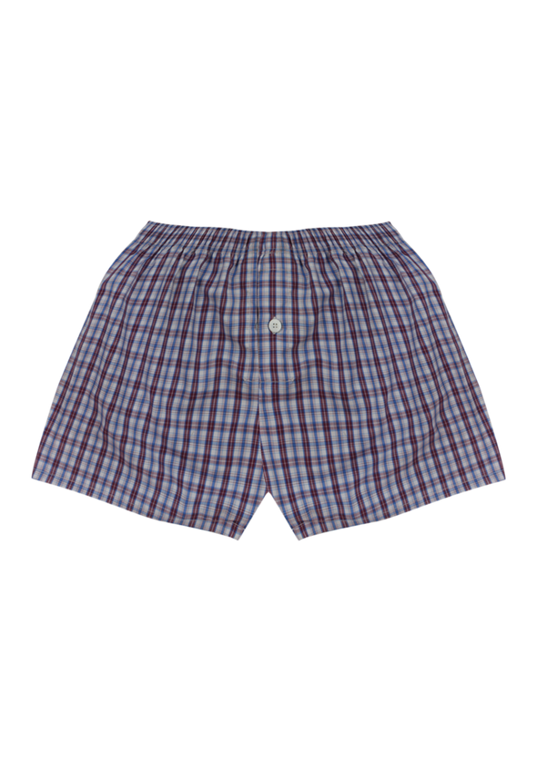 Comfortable Red Checks Woven Boxer Shorts