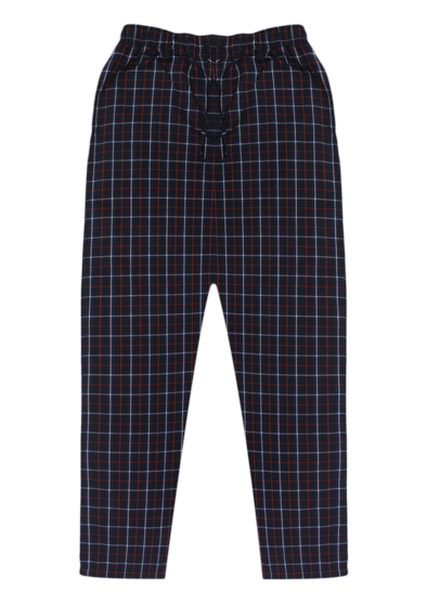 Pure Cotton Red & White Checks Lounge Pants