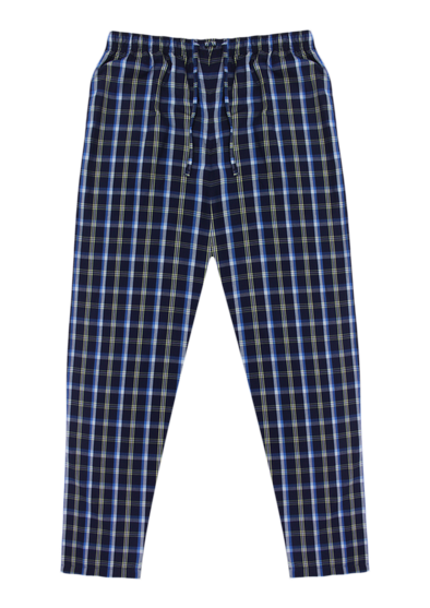 Pure Cotton Navy & White Checks Lounge Pants